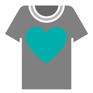 Shirt with Heart Graphic